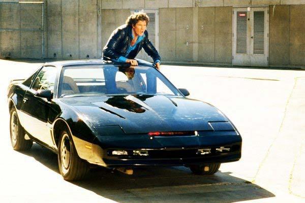 Michael y KITT el auto fantástico